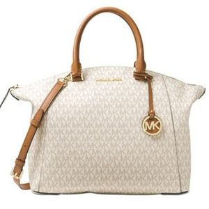 Michael Kors RILEY Large Signature Satchel